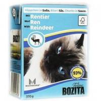 Bozita Reindeer Cat Кусочки в соусе с мясом оленя для кошек 370г