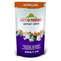 Almo Nature Orange Label Сухой корм для кастрированных котов и стерилизованных кошек с кроликом