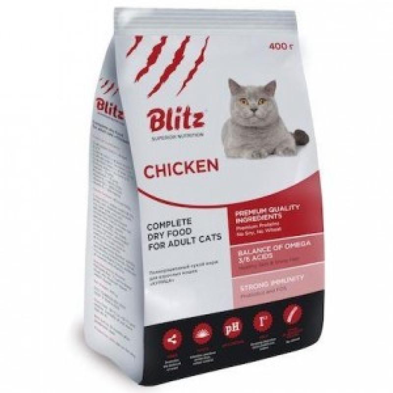 Blitz Adult Cats Chicken Сухой корм для кошек с курицей 10 кг