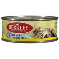 Беркли Консервы для котят Кролик, Овощи 100гр , УПАКОВКА 6ШТ