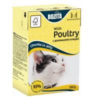 Bozita Mini Poultry Кусочки в желе смясом птицы для кошек 190г