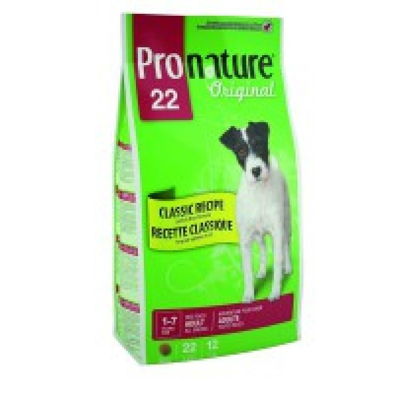 Pronature Original 22 Корм для взрослых собак с ягненком и рисом