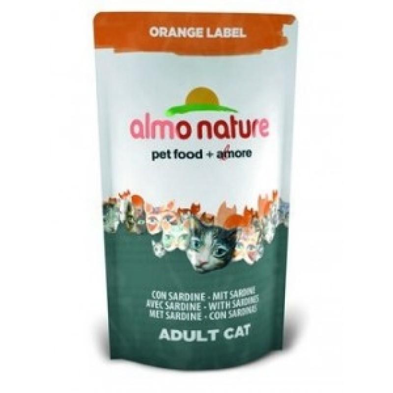 Almo Nature Orange Label Сухой корм для кастрированных котов и стерилизованных кошек с сардинами