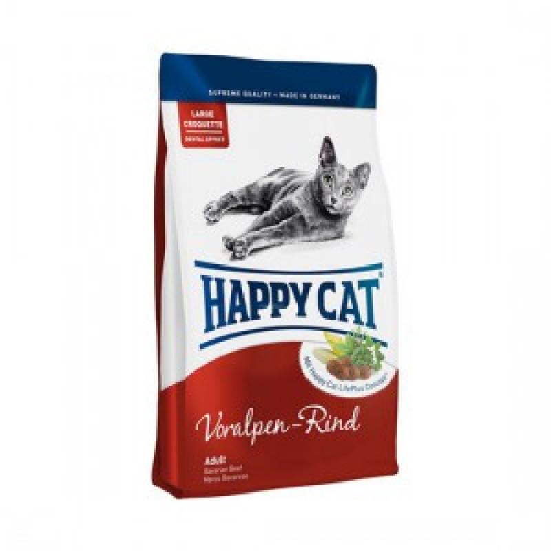 HAPPY CAT Fit & Well Adult Корм для кошек Альпийская говядина 10кг