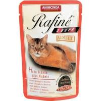 Animonda Rafine Soupe Adult Паучи для кошек коктейль с курицей и уткой, пастой