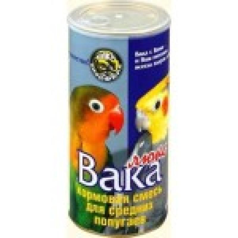 Вака Люкс (банка) Корм для средних попугаев