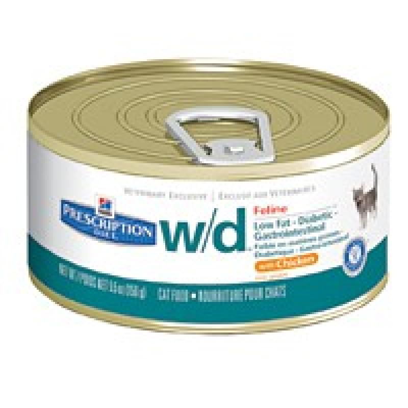 Hills Feline W|D Консервы для кошек, лечение сахарного диабета, запоров, колитов