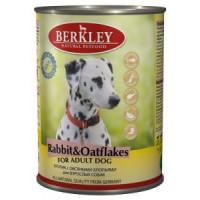 Беркли Консервы для собак Кролик с овсяными хлопьями  400г