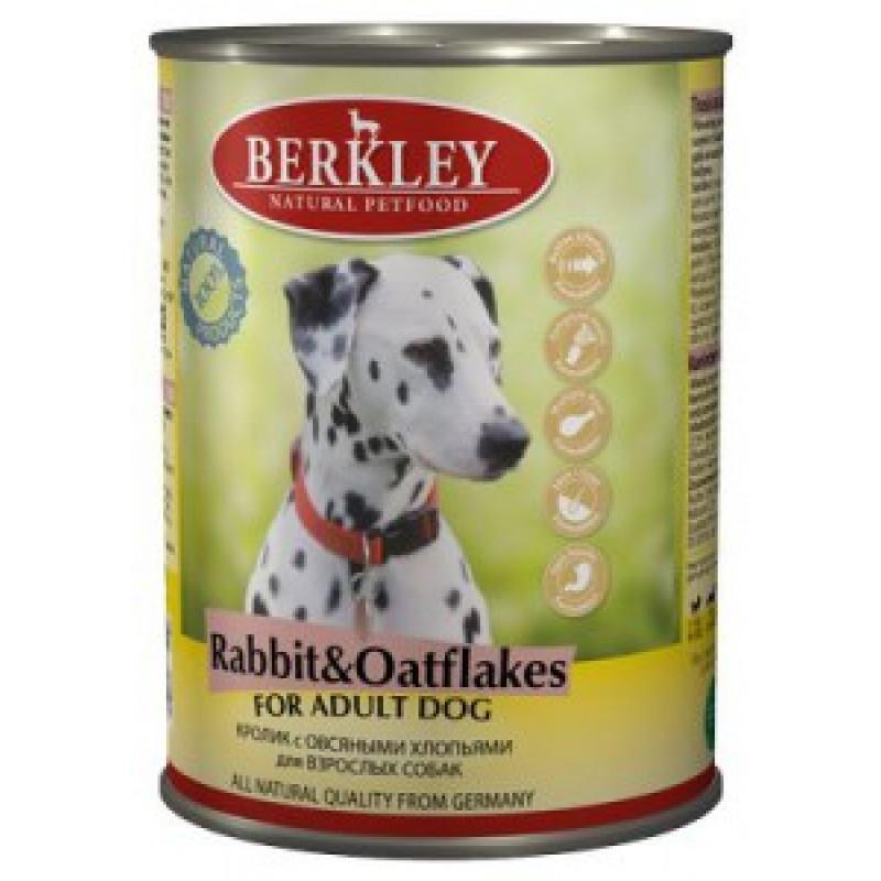 Беркли Консервы для собак Кролик с овсяными хлопьями