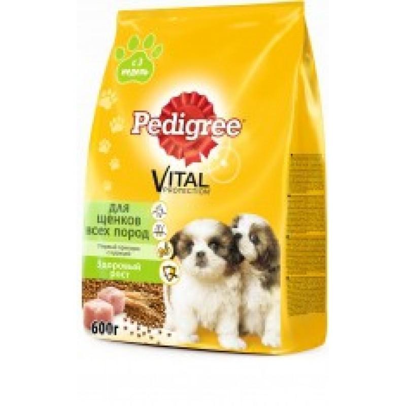 Pedigree Puppy Vital Первый Прикорм Сухой корм с курицей и рисом для щенков с 3 недель