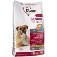 1st Choice Senior Sensitive Skin Coat Корм для пожилых собак с чувствительной кожей и для шерсти, ягненок+рыба+рис