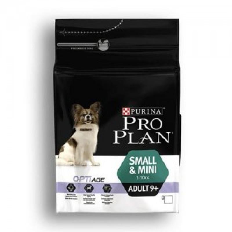 Pro Plan Small&Mini Adult 9+ Сухой корм для пожилых собак мелких и карликовых пород, Курица с рисом