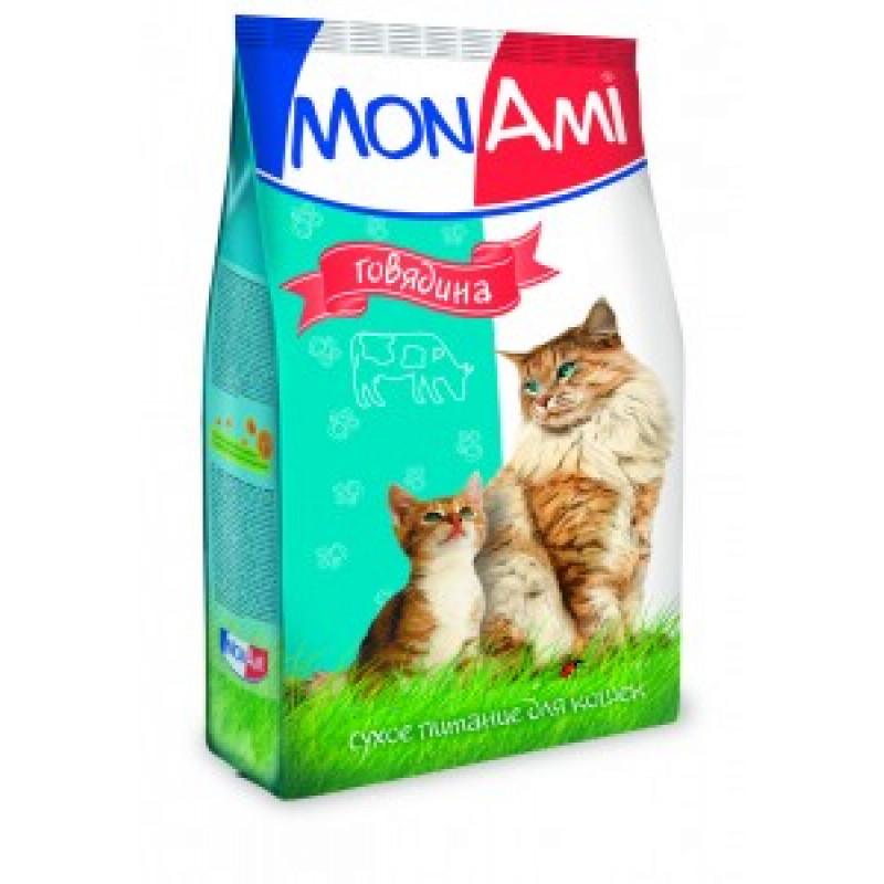 Монами Корм для кошек для профилактики МКБ с говядиной