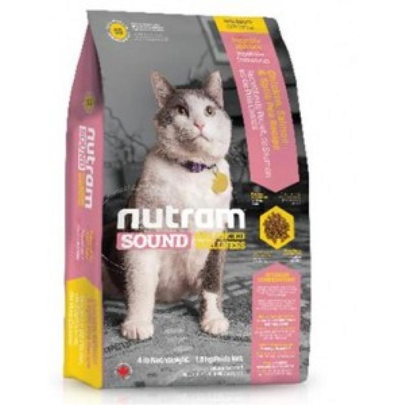 Nutram Sound Balanced Wellness Adult Cat Food  Сухой корм для взрослых кошек с Курицей 1,8 кг