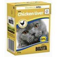 Bozita Chicken liver Cat Кусочки в желе с куриной печенью для кошек
