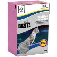 Bozita Mini Funktion Sensitive Hair&Skin кусочки Лосося в желе для кошек с чувствительной кожей и шерстью 190г