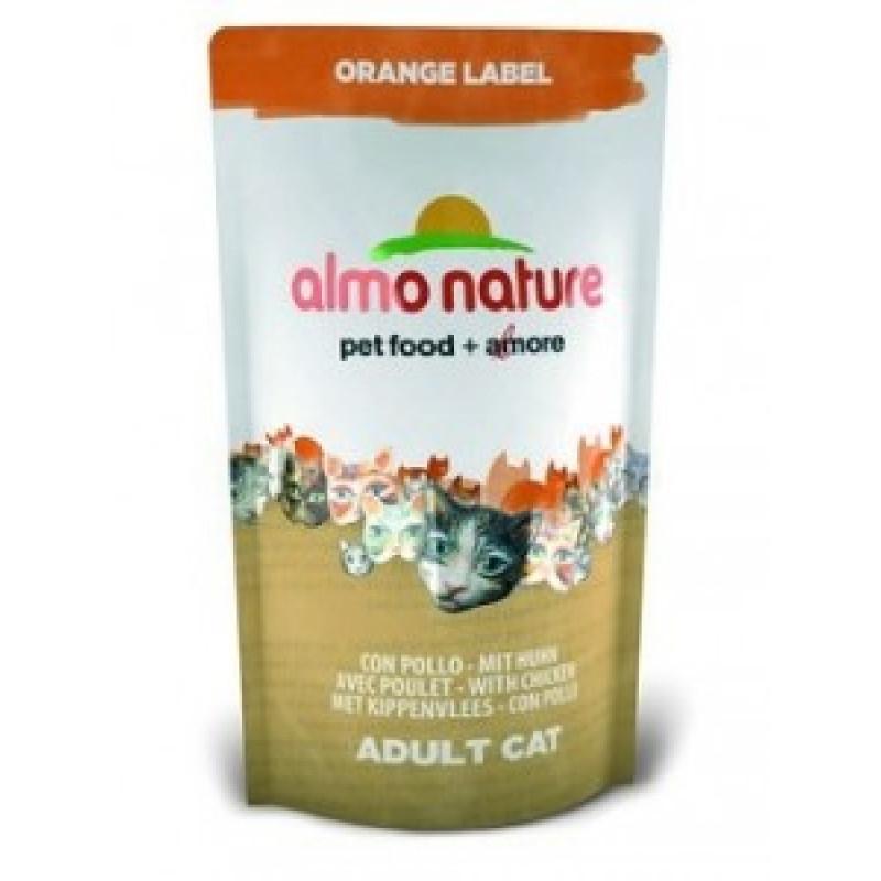Almo Nature Orange Label Сухой корм для кастрированных котов и стерилизованных кошек с курицей