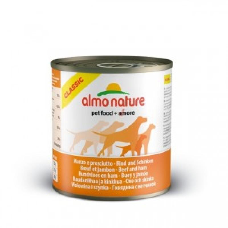 Almo Nature Classic Консервы для собак с говядиной и ветчиной