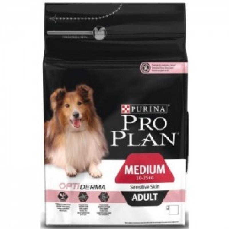 14кг Pro Plan Adult Sensitive Skin Корм для взрослых собак с чувствительной кожей, лосось с рисом