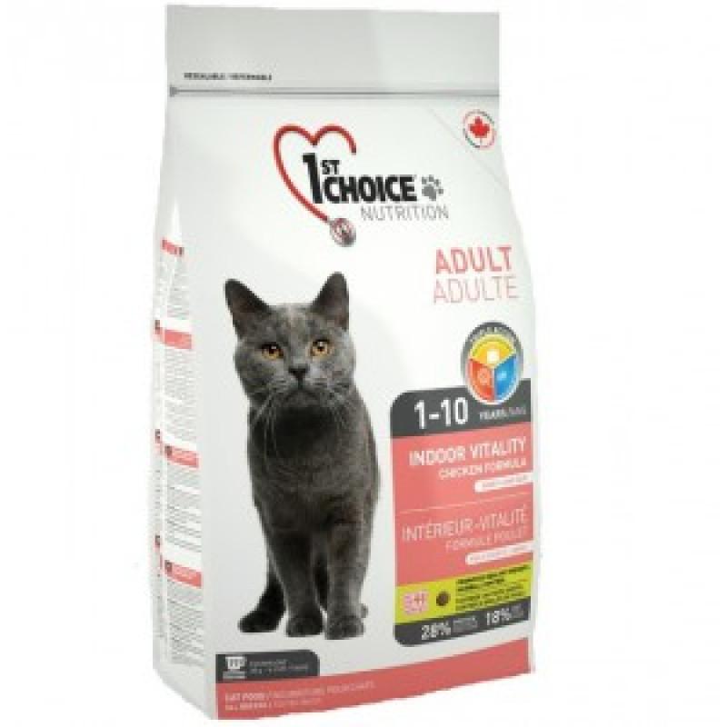 1st Choice Vitality Корм сухой для домашних кошек с цыпленком