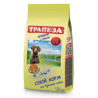 Трапеза Ягненок Корм для взрослых собак ягненок с рисом 13кг