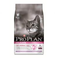 Pro Plan Deliсate Корм сухой для кошек с чувствительной кожей и пищеварением, индейка с рисом  3кг