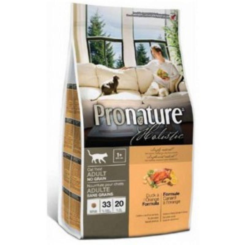 Pronature Holistic Беззерновой корм для кошек Утка с апельсином 2,72кг