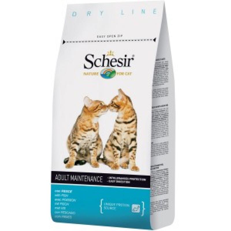 Schesir Adult Maintenance Fish Сухой корм для взрослых кошек с рыбой 1,5 г