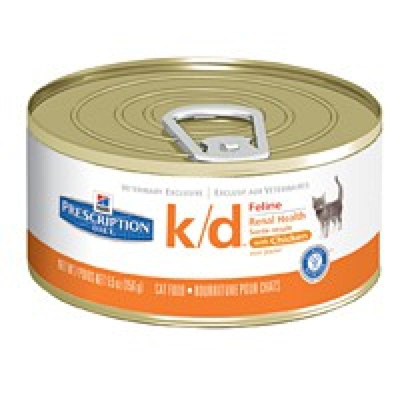 Hills Feline K|D Консервы для кошек, лечение заболеваний почек,МКБ (оксалаты, ураты)