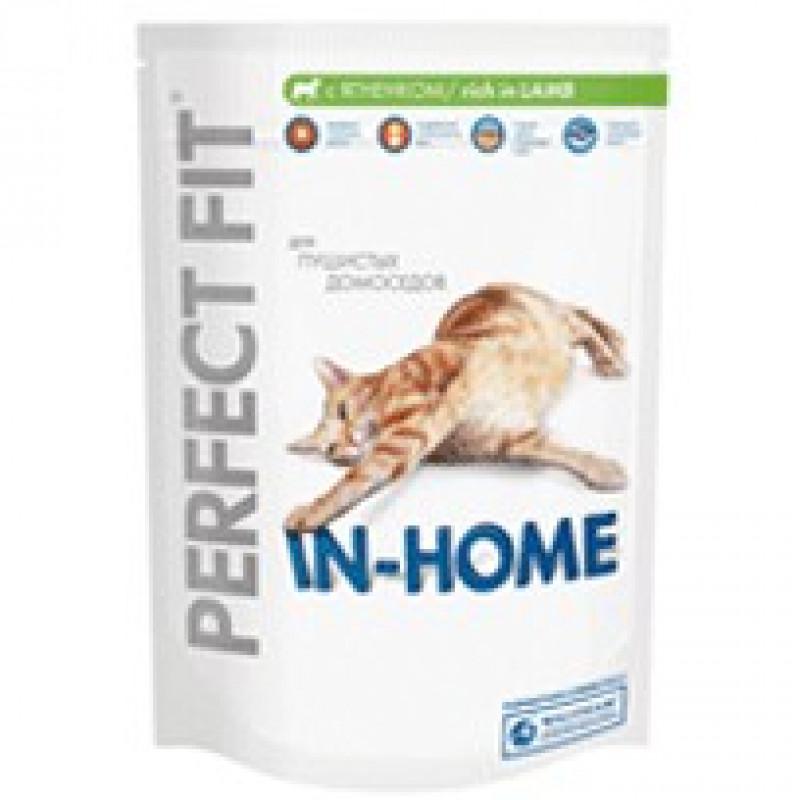 Perfect Fit In-Home Корм для домашних кошек с ягненком 650 г