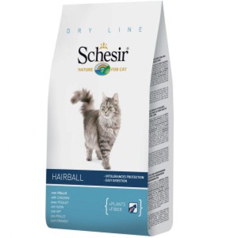 Schesir Hairball Сухой корм для длинношерстных кошек 400 г