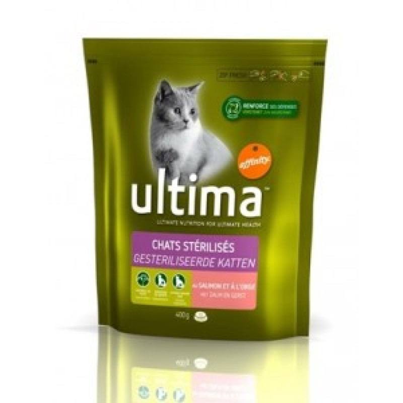 Ultima Adult Sterilized Сухой корм для стерилизованных кошек, Курица с ячменем 350 г