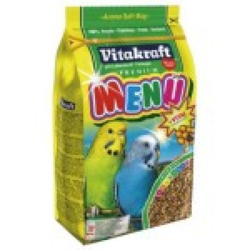 Корм для волнистых попугаев MENU VITAL основной Усиливающим иммунную систему, обогащен витаминами и минералами