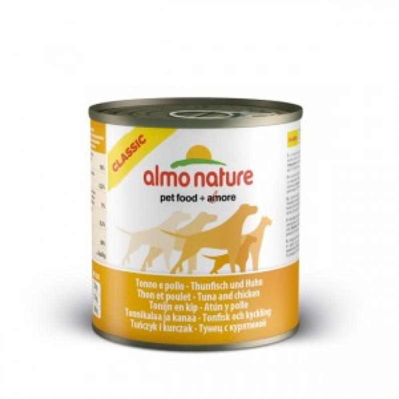 Almo Nature Classic Консервы для собак с тунцом и курицей