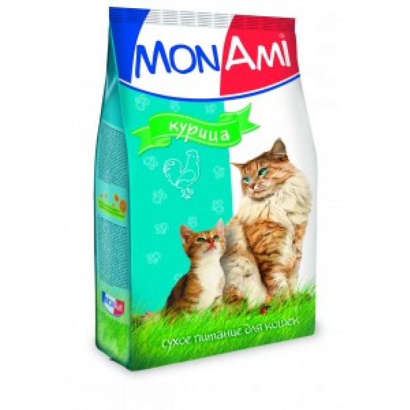 Монами Корм для кошек для профилактики МКБ, с курицей
