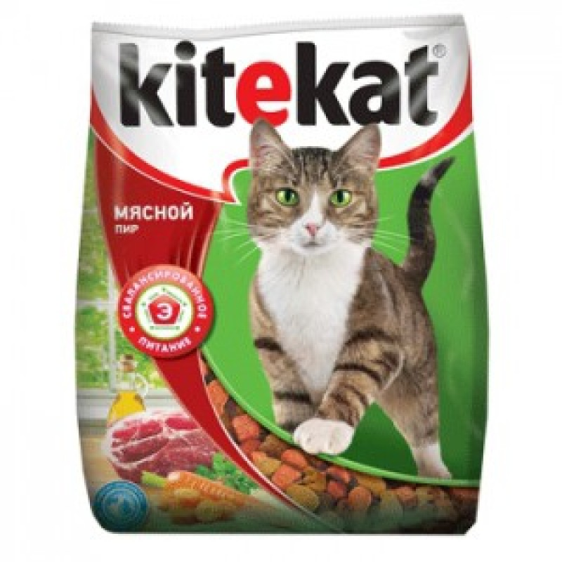 Kitekat Мясной пир Корм для кошек Мясной пир