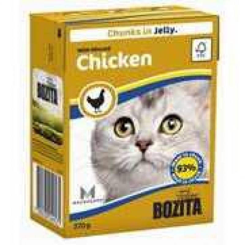 Bozita Chicken Cat Кусочки в желе с рубленой курицей для кошек 190г