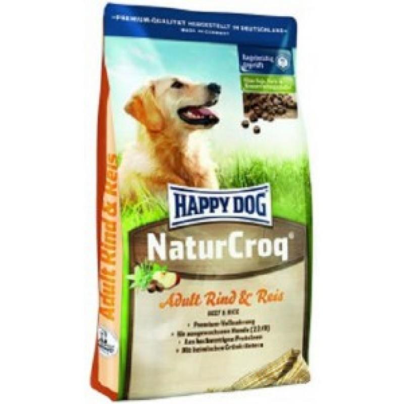 Happy Dog NaturCroq Говядина и рис Корм для взрослых собак всех пород 15кг