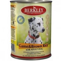 Беркли Консервы для собак Оленина с коричневым рисом 400г