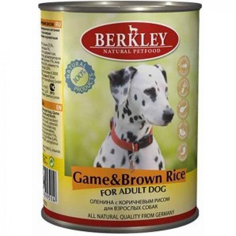 Беркли Консервы для собак Оленина с коричневым рисом