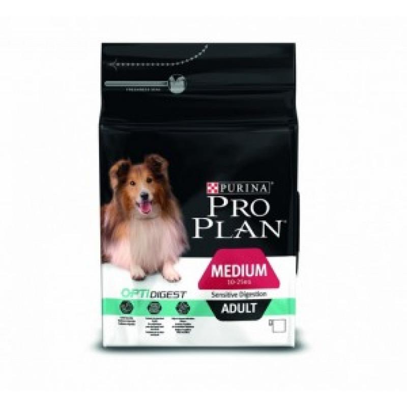 14кг Pro Plan Adult Medium Sensitive Digestion Сухой корм взрослых собак всех пород с чувствительным пищеварением, Ягненок