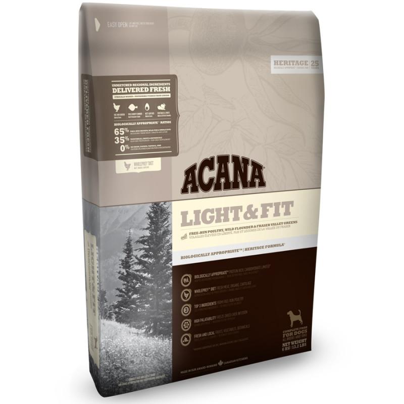 Acana Heritage Light & Fit Сухой корм для собак всех пород старше 1 года, с повышенной массой тела