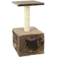 Домик-когтеточка с площадкой. Разные цвета 30*30*60см