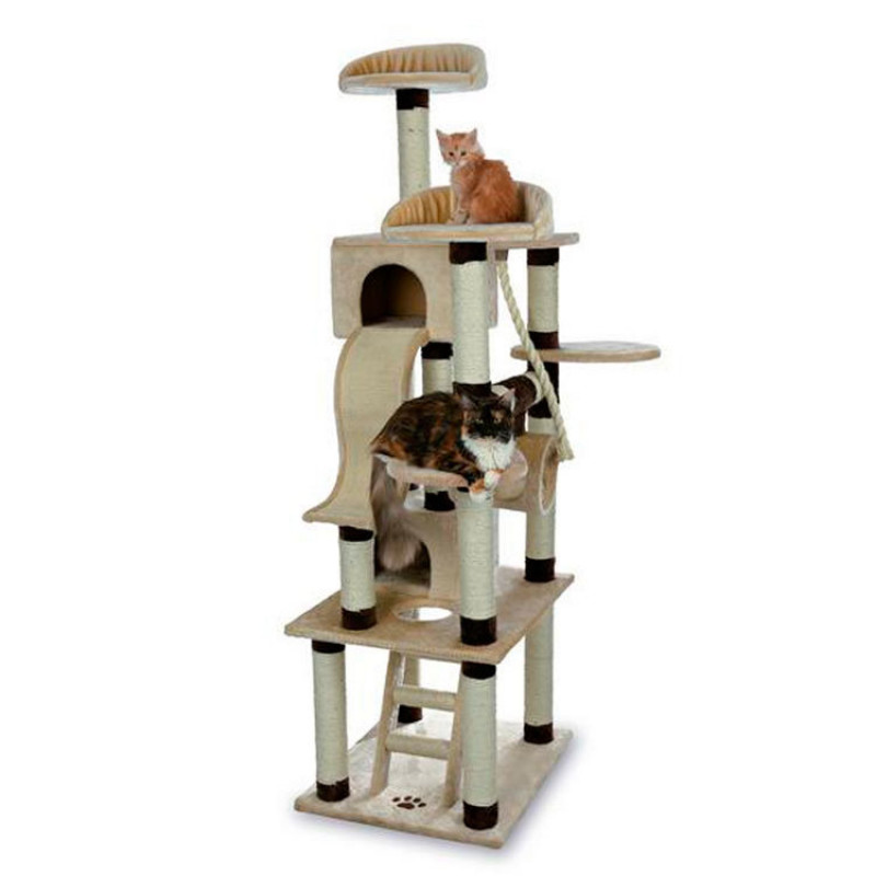 "TRIXIE 43691 Домик для кошки ""Adiva"" 209см бежевый/коричневый"