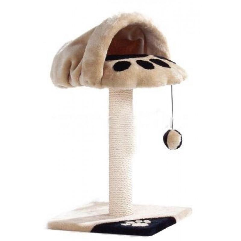 Домик-когтеточка с норой 36*36*70 см