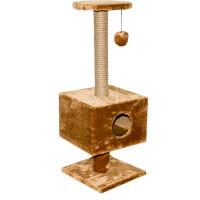 ДАРЭЛЛ Домик-когтеточка  квадратный на подставке 37*35*95см