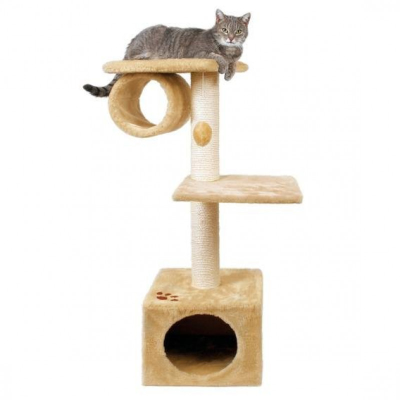 "TRIXIE Домик д/кошки ""San Fernando"" с 2-мя площадками и трубой 106см"