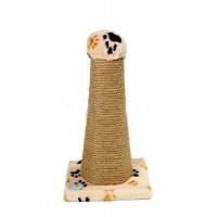 Зооник Когтеточка-столб на подставке шестигранная 34*34*55см 14425