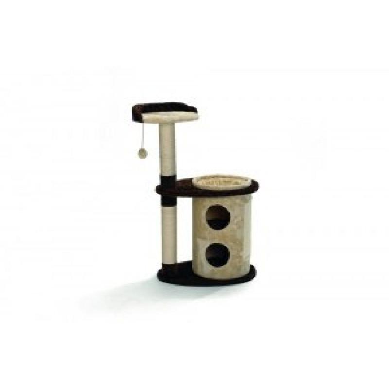 Домик-когтеточка Casa с полочкой 63*43*105 см