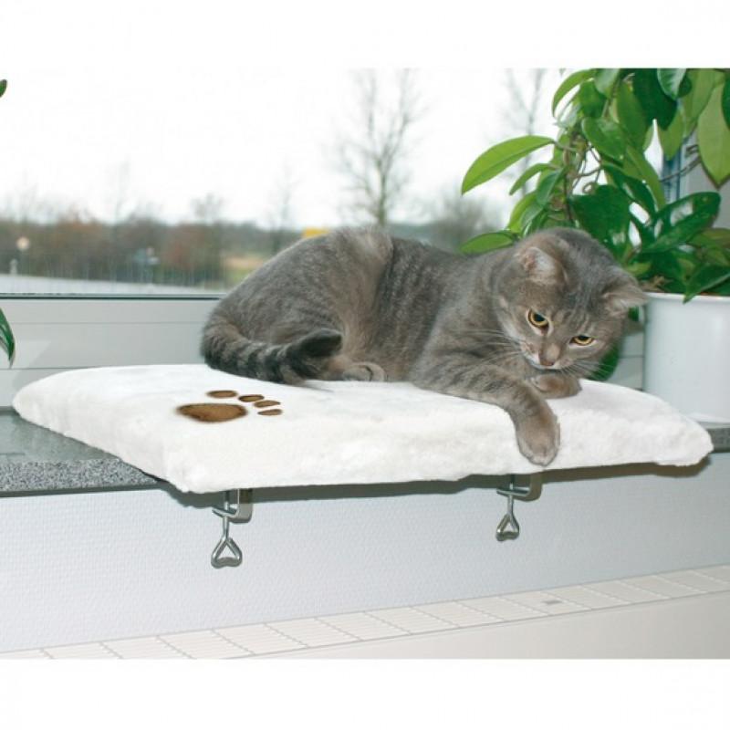 TRIXIE 4328 Лежак д/кошек на подоконник, плюш 51х36см